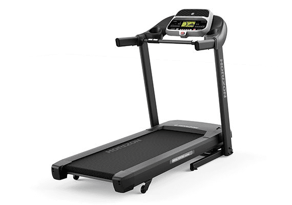 A side view angle of the Horizon Adventure 3 Treadmill